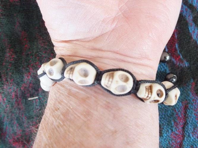 White Skulls Bracelet
