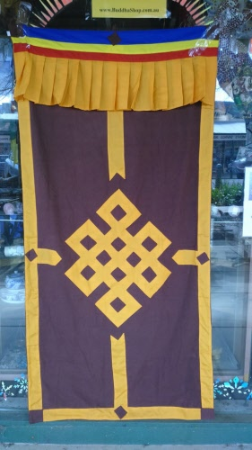 Door Curtains Tibetan Symbols