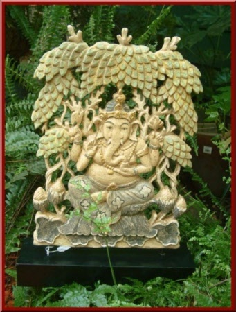 Ganesh Seated In Garden